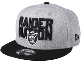 Oakland Raiders 2018 NFL Draft On-Stage Grey/Black Snapback - New Era