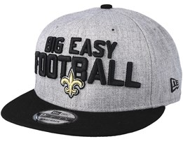New Orleans Saints 2018 NFL Draft On-Stage Grey/Black Snapback - New Era