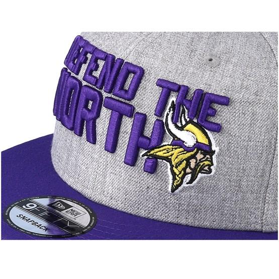 Minnesota Vikings 2018 NFL Draft On-Stage Grey Purple Snapback - New Era  caps  a30081756
