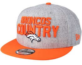 Denver Broncos 2018 NFL Draft On-Stage Grey/Orange Snapback - New Era