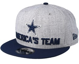 Dallas Cowboys 2018 NFL Draft On-Stage Grey/Navy Snapback - New Era