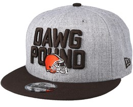 Cleveland Browns 2018 NFL Draft On-Stage Grey/Brown Snapback - New Era