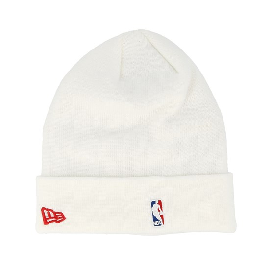 06e6c6a9255 Chicago Bulls Essential Knit Wordmark White Cuff - New Era beanies ...