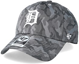 Detroit Tigers Smokelin Mvp Grey Camo Adjustable - 47 Brand