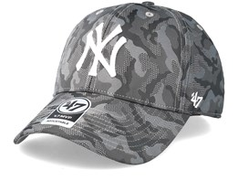 New York Yankees Smokelin Mvp Grey Camo Adjustable - 47 Brand