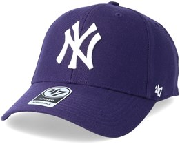 New York Yankees Mvp Purple Adjustable - 47 Brand