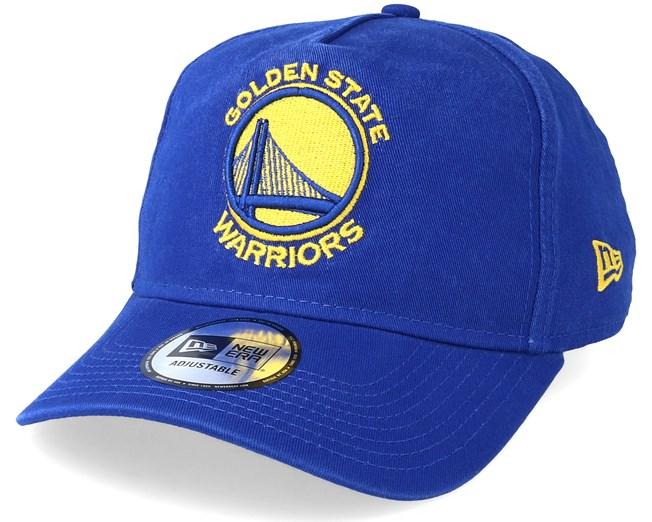 Golden State Warriors Washed Team A Frame Royal Adjustable New Era