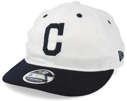 check out 58113 64ab0 denmark cleveland indians low profile 9fifty strapback white navy strapback  new era 5a670 5f526