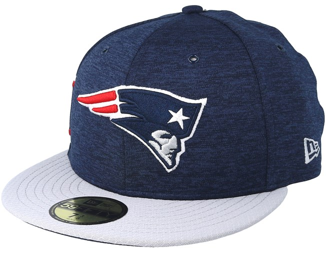 New England Patriots 59 Fifty On Field Navy Grey Fitted - New Era ... 076cb24dea82