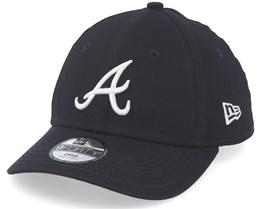e95e7a6096d8 Kids Atlanta Braves League Essential 9Forty Navy White Adjustable - New Era