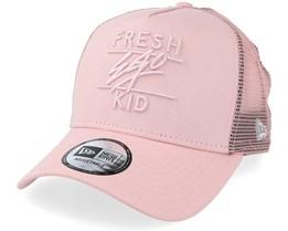 A Frame Pink Mesh Trucker - Fresh Ego Kid