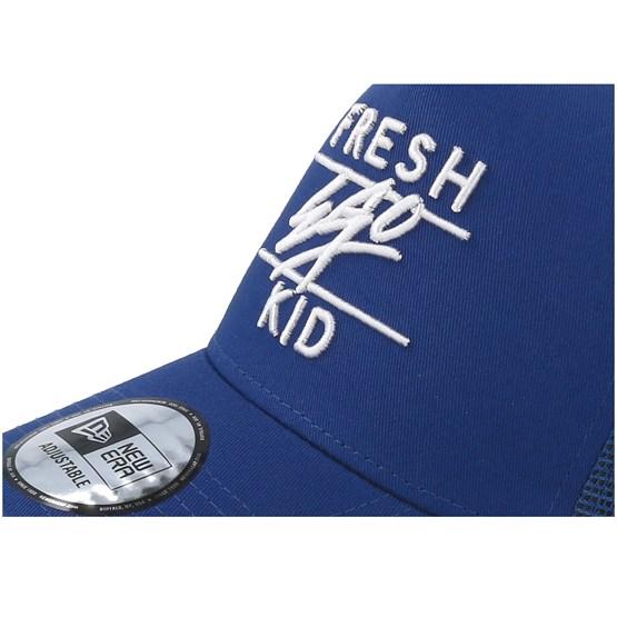 A Frame Mesh Blue Trucker - Fresh Ego Kid - Bearded Man Apparel -  Hatstore.es eff9adbed03