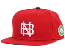 Base Red Snapback - New Black