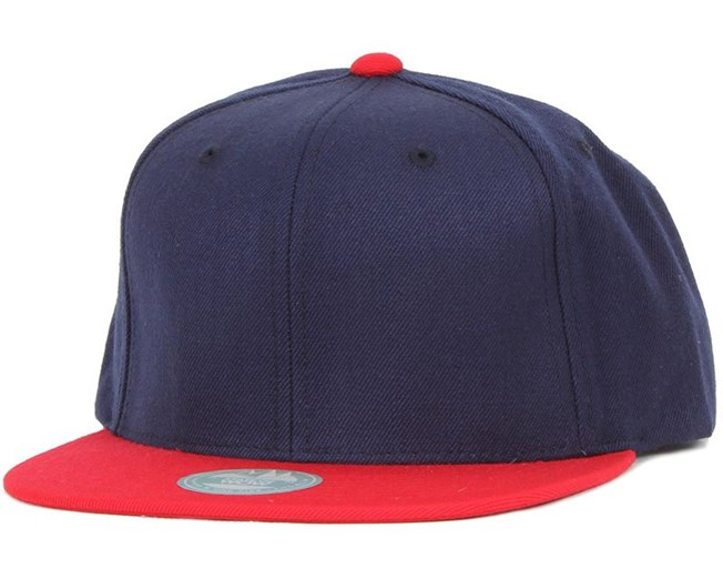 Two Tone Dark Navy/Red Snapback - State Of Wow