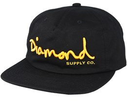 Script Sports Unconstructed Black Snapback - Diamond