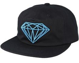 Brilliant Unconstructed Black Snapback - Diamond