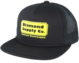 Hardware Trucker Black Snapback - Diamond