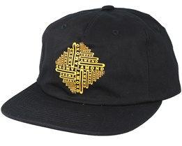 Formula Unconstructed 5-Panel Black Snapback - Diamond