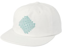 Formula Unconstructed 5-Panel White Snapback - Diamond