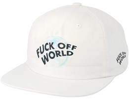 Get Me Out Of Here Unstructured White Strapback - Diamond