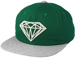 Brilliant Two-Tone Unconstructed Green Snapback - Diamond