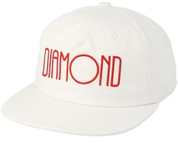 Diamond Deco Unconstructed White Snapback - Diamond
