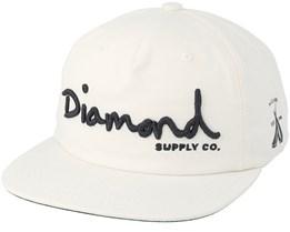 Script Unconstructed White Snapback - Diamond