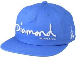 Script Unconstructed Powder Blue Snapback - Diamond