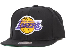 LA Lakers Wool Solid Snapback - Mitchell & Ness