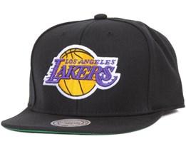 LA Lakers Wool Solid Snapback - Mitchell & Ness