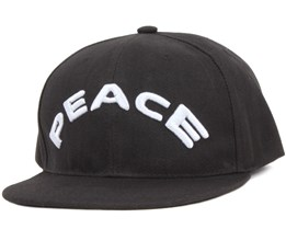 Peace Black Snapback - Somewear