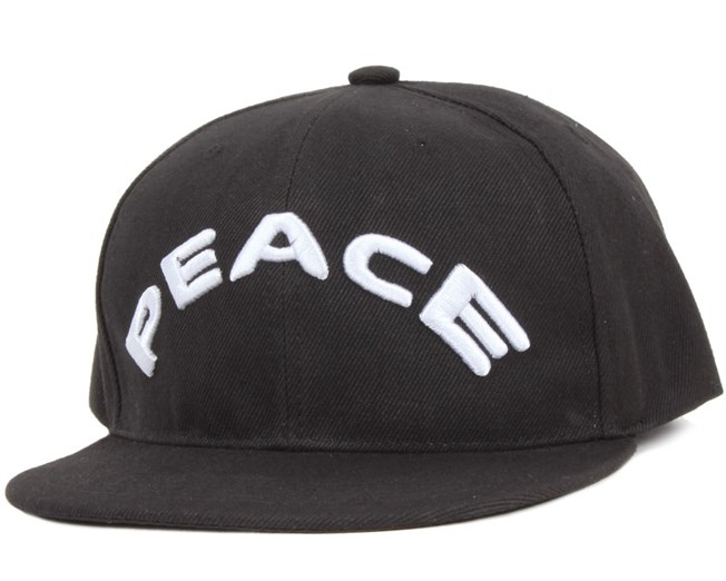 Peace Black Snapback - Somewear