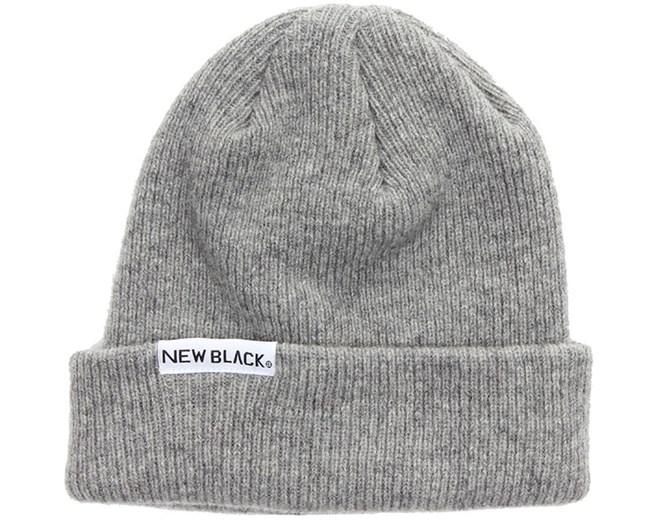 Wool Beanie Grey - New Black