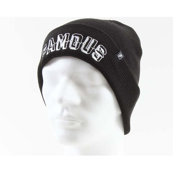 abfc76d9c35 Prism Text Roll Up Beanie Black - Famous beanies