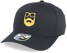 Logo Black/Gold Flexfit - Bearded Man