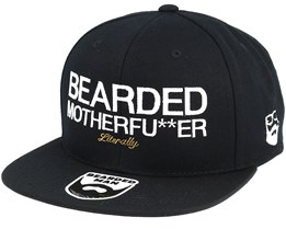 Bearded Mother Fu**ker Black/White Snapback - Bearded Man