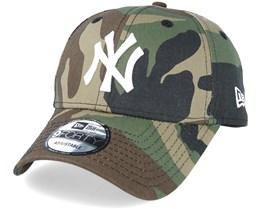 NY Yankees Basic Camo/White 940 Adjustable - New Era