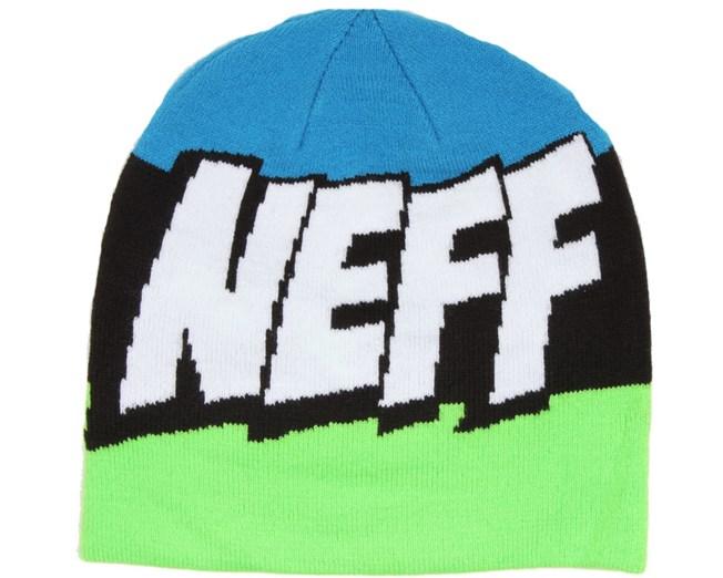 Cartoon Beanie Slime/Black/Cyan - Neff