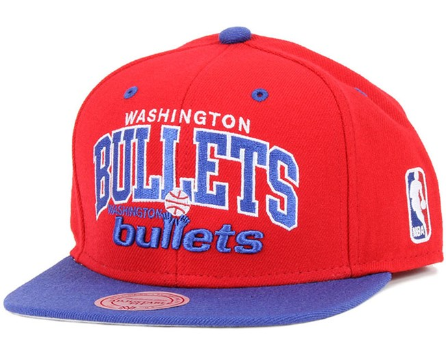 Washington Bullets Team Arch Snapback - Mitchell & Ness