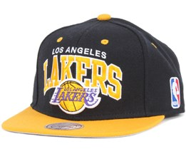 LA Lakers Black Team Arch Snapback - Mitchell & Ness