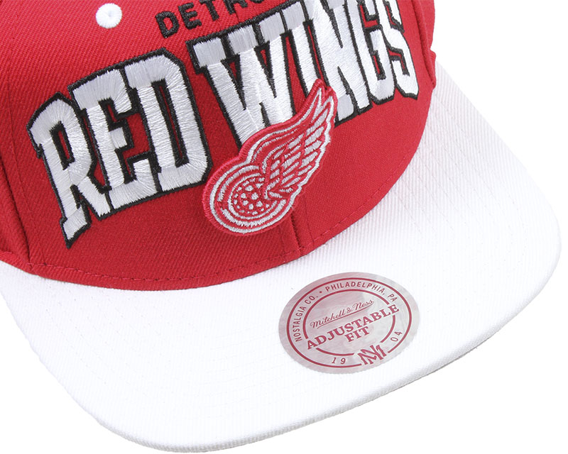 detroit red wings team arch mitchell ness casquette. Black Bedroom Furniture Sets. Home Design Ideas