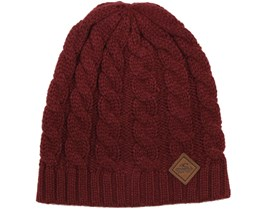 Classic Cable Beanie Truffle Red - O'Neill