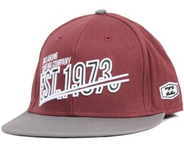 Ewing Cap Burgundy Fitted - Billabong