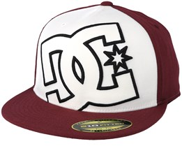 Heard White/Burgundy Fitted - DC
