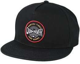 Mouthy Black Snapback - Quiksilver