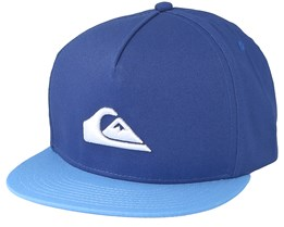 Kids Stuckles Blue Snapback - Quiksilver