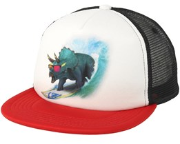 Kids Mix Tape Dino Boy White Trucker - Quiksilver