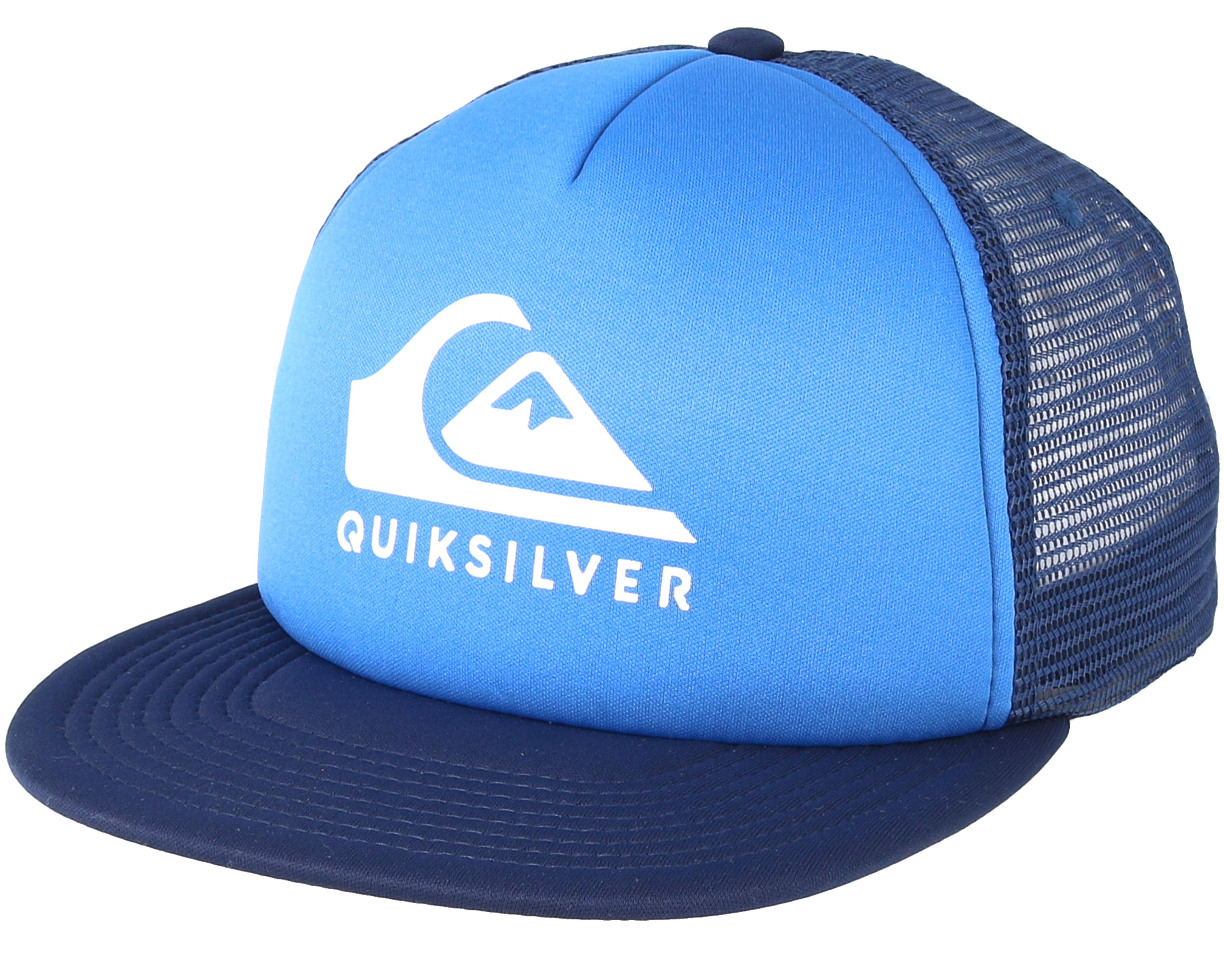 Foamslay Blue Trucker Quiksilver Cap Hatstore Nl