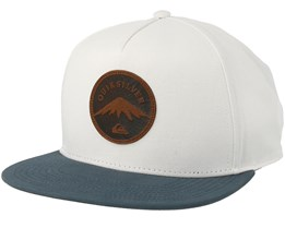 Mountain Stashe White/Blue Snapback - Quiksilver