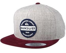 Chowder Grey/Burgundy Snapback - Quiksilver